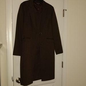 1cbaf92d49909 Brown Sheath Dress with Dress Length Jacket